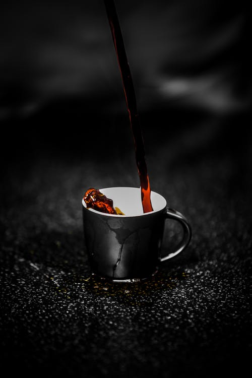genieten van koffie